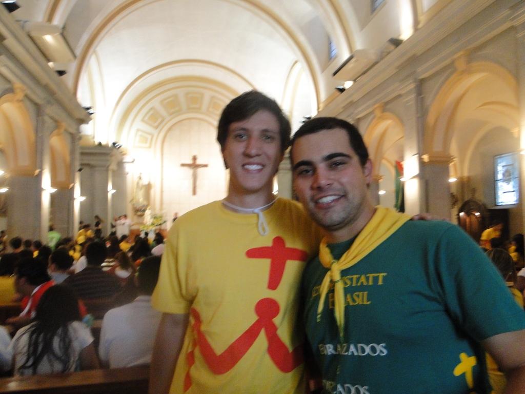 Eu e Guilherme em Madri, por ocasião da Jornada Mundial da Juventude de 2011.