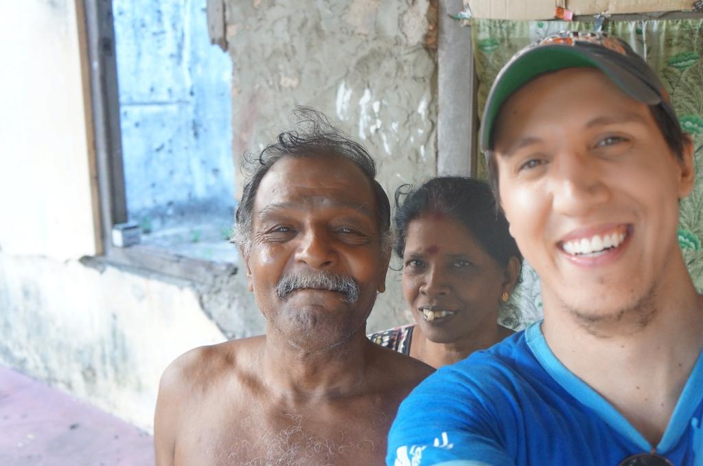 Simpático casal Tamil em Jaffna