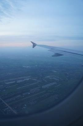 Vista da chegada à Tailândia