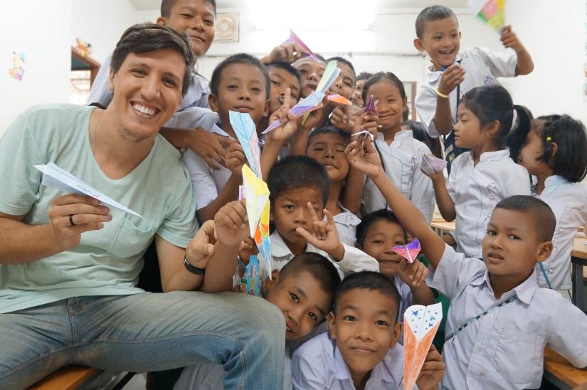 Aula com refugiados na Tailândia